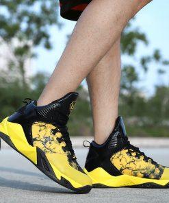 High top Basketball Shoes Men Cushioning Light Jordan Basketball Sneakers Anti skid Breathable Outdoor Sports Men 5