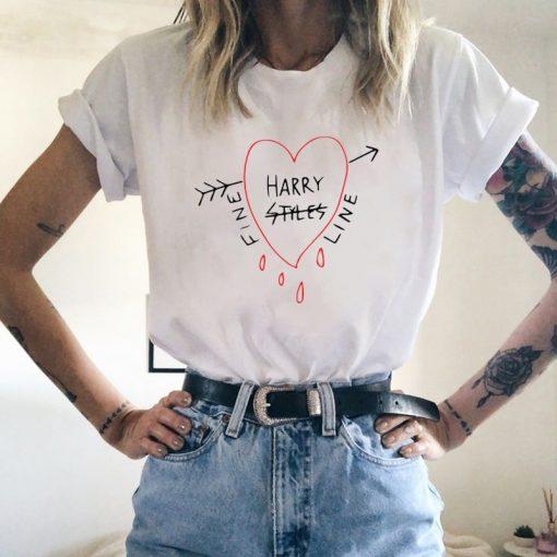 Hip Hop Harry Styles T shirt Fine Line Love on Tour Women Summer Harajuku Top Tees