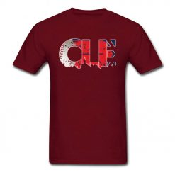 Hiphop T shirt Men Cleveland Ohio CLE Indians T Shirt 2019 New Coming Cotton Tshirt Male 1
