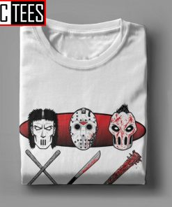 Hockey Mask Evolution T Shirt Men s Pure Cotton Male T Shirt Movie Friday the 13th 8