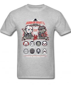 Horror Night Tee Shirt Men T shirt Pinhead Friday 13th Tshirt Cotton Tops Cartoon T Shirts 1