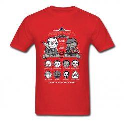 Horror Night Tee Shirt Men T shirt Pinhead Friday 13th Tshirt Cotton Tops Cartoon T Shirts 2