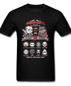 Horror Night Tee Shirt Men T shirt Pinhead Friday 13th Tshirt Cotton Tops Cartoon T Shirts