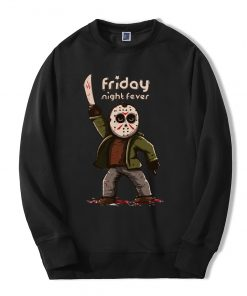 Horror Prison Friday The 13th Hoodie Men Hipster Hooded Streetwear 2019 Autumn Winter Fleece Men s