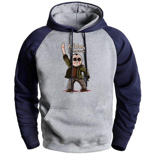 Horror Prison Friday The 13th Mens Sweatshirt Hoodie 2020 Autumn Winter Fleece Hooded Raglan Pullover Male