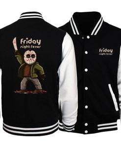 Horrorr Prison Friday The 13th Men Jacket 2019 Autumn Winter Baseball Jackets Men Warm Fashion Hoodies