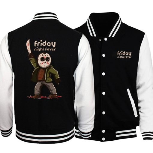Horrorr Prison Friday The 13th Men Jacket 2019 Autumn Winter Baseball Jackets Men Warm Fashion Hoodies