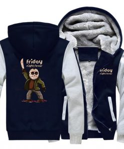 Horrorr Prison Friday The 13th Print Hoodies Men 2019 Winter Warm Fleece Raglan Sleeve Sweatshirts Men 1