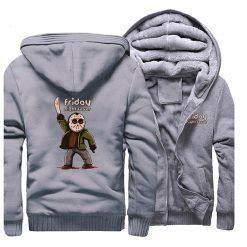 Horrorr Prison Friday The 13th Print Hoodies Men 2019 Winter Warm Fleece Raglan Sleeve Sweatshirts Men 2