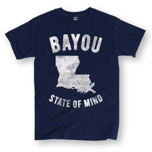 Hot 2019 Men S Fashion Print T Shirt Summer Style Bayou State of Mind Lousiana La