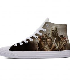 Hot Horror TV The Walking Dead Fashion Popular Casual Canvas Shoes High Top Lightweight Breathable 3D 1