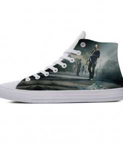 Hot Horror TV The Walking Dead Fashion Popular Casual Canvas Shoes High Top Lightweight Breathable 3D 2
