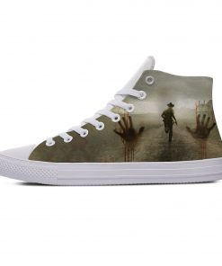 Hot Horror TV The Walking Dead Fashion Popular Casual Canvas Shoes High Top Lightweight Breathable 3D