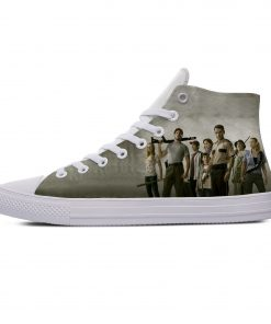 Hot Horror TV The Walking Dead Fashion Popular Casual Canvas Shoes High Top Lightweight Breathable 3D 3