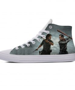 Hot Horror TV The Walking Dead Fashion Popular Casual Canvas Shoes High Top Lightweight Breathable 3D 4