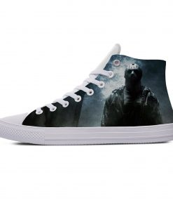 Hot Jason Voorhees Friday the 13th Horror Cool Casual Canvas Shoes High Top Lightweight Breathable 3D 2