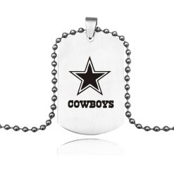 Hot Selling Dallas Cowboy Team Logo Necklace Titanium Steel Cowboy Team Keychain Pendant Souvenirs