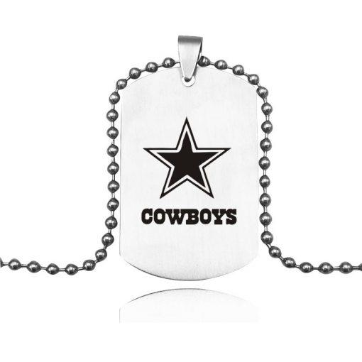 Hot Selling Dallas Cowboy Team Logo Necklace Titanium Steel Cowboy Team Keychain Pendant Souvenirs