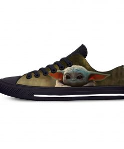 Hot Star Wars Baby Yoda Mandalorian Fashion Funny Casual Canvas Shoes Low Top Lightweight Breathable 3D 3