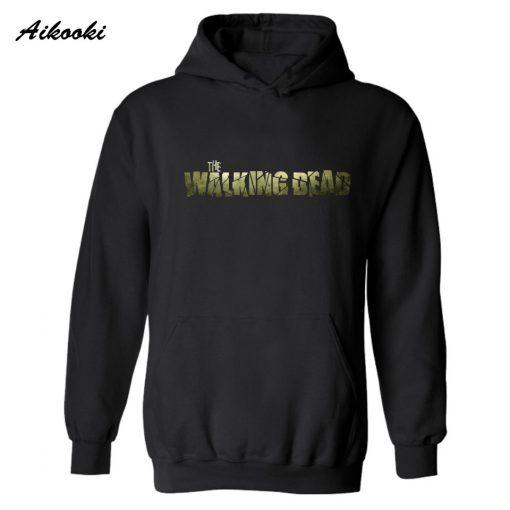 Hot The Walking Dead Zombies Fashion Hooded men women Punk Long sleeve Hip Hop Skateboards Creative 2