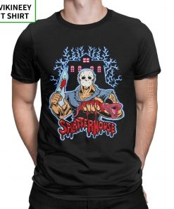 House Of Splatter TShirt Men Cotton T Shirt Movie Scary Friday the 13th Jason Voorhees Freddy 1