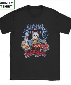 House Of Splatter TShirt Men Cotton T Shirt Movie Scary Friday the 13th Jason Voorhees Freddy