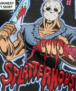 House Of Splatter TShirt Men Cotton T Shirt Movie Scary Friday the 13th Jason Voorhees Freddy 3