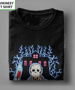 House Of Splatter TShirt Men Cotton T Shirt Movie Scary Friday the 13th Jason Voorhees Freddy 4