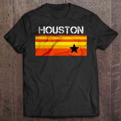 Houston Baseball Throwback Astro Vintage Stripes Version2 Tshirts