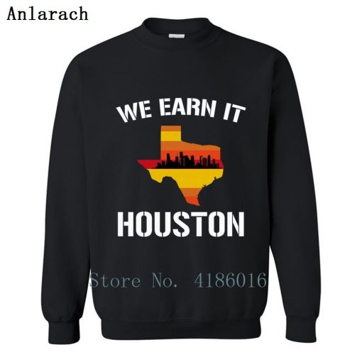 Houston Baseball Throwbacks Retro Astro Stripe Shir Sweatshirt Family Letters Designing Printed Cotton Spring Pullover
