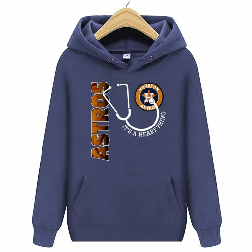 Houston Streetwear Harajuku 100 Cotton Astros It S A Heart Thing Stethoscope Hoodies Sweatshirts