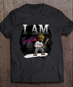 I Am Atlanta Print T Shirt Short Sleeve O Neck Braves Tshirts