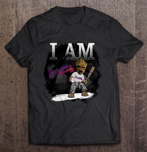 I Am Atlanta Print T Shirt Short Sleeve O Neck Braves Tshirts
