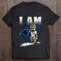 I Am Carolina Streetwear Harajuku 100 Cotton Men S Tshirt Panthers Groot Tshirts