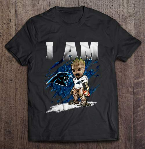 I Am Carolina Streetwear Harajuku 100 Cotton Men S Tshirt Panthers Groot Tshirts