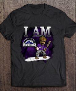 I Am Colorado Print T Shirt Short Sleeve O Neck Rockies Groot Tshirts