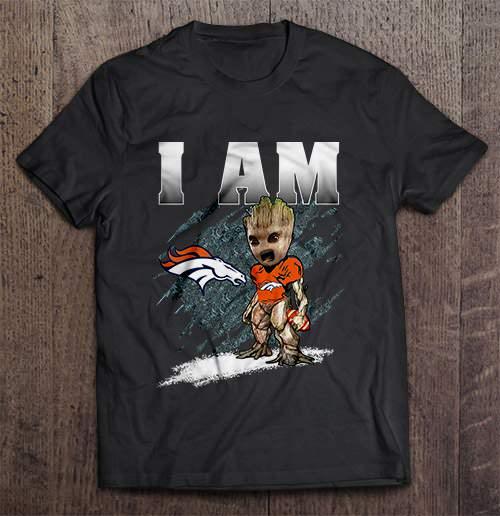 I Am Denver Streetwear Harajuku 100 Cotton Men S Tshirt Broncos Groot Tshirts