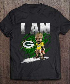I Am Green Bay Packer Groot Tshirts