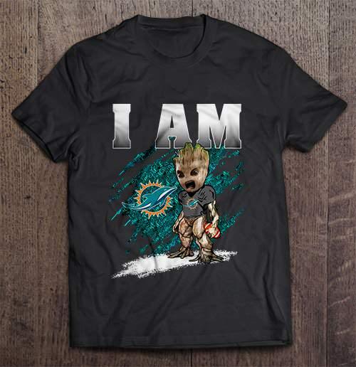 I Am Miami Streetwear Harajuku 100 Cotton Men S Tshirt Dolphins Groot Tshirts