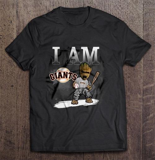 I Am San Streetwear Harajuku Francisco 100 Cotton Men S Tshirt Giants Groot Tshirts