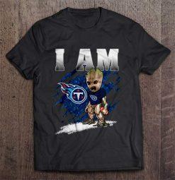 I Am Tennessee Streetwear Harajuku 100 Cotton Men S Tshirt Titans Groot Tshirts