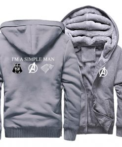 I m A Simple Man Star Wars Coat Fashion Thick Male Marvel Avengers Jacket Winter Fleece 1