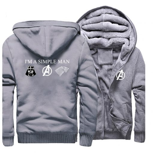 I m A Simple Man Star Wars Coat Fashion Thick Male Marvel Avengers Jacket Winter Fleece 1