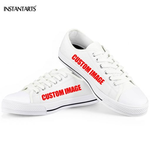 INSTANTARTS Day Of The Dead Canvas Shoes Women Men Low Top Casual Seankers Skull Print Fashion 2