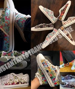 INSTANTARTS Day Of The Dead Canvas Shoes Women Men Low Top Casual Seankers Skull Print Fashion 4