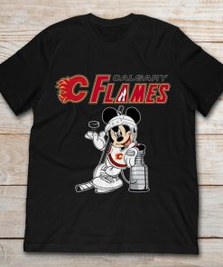 Ice Hockey Mickey Calgary Flame T Shirt