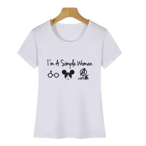 Im A Simple Woman Who Love Harry t shirt Avengers Endgame T Shirt and Game of 4