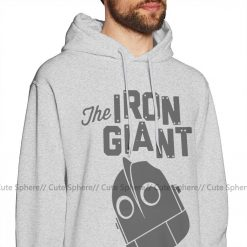Iron Giant Hoodie Iron Giant Logo Hoodies Winter Long Pullover Hoodie Stylish Loose Grey Cotton Oversize 1