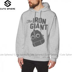 Iron Giant Hoodie Iron Giant Logo Hoodies Winter Long Pullover Hoodie Stylish Loose Grey Cotton Oversize