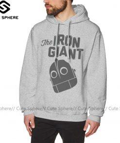 Iron Giant Hoodie Iron Giant Logo Hoodies Winter Long Pullover Hoodie Stylish Loose Grey Cotton Oversize